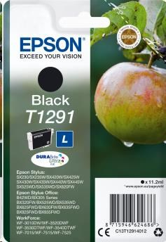 EPSON ink čer Singlepack Black T1291 DURABrite Ultra Ink (11,2 ml) (C13T12914012)