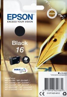 EPSON Singlepack Black 16 DURABrite Ultra Ink (C13T16214012)