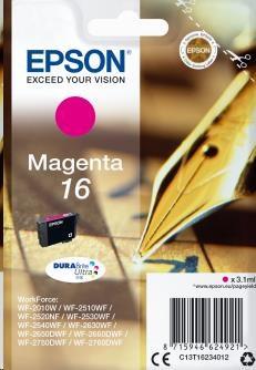 EPSON Singlepack Magenta 16 DURABrite Ultra Ink (C13T16234012)