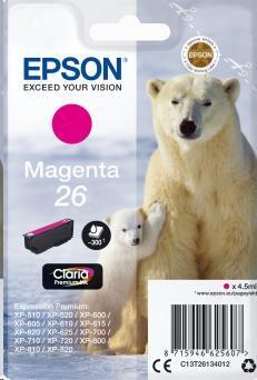 EPSON Singlepack Magenta 26 Claria Premium Ink (C13T26134012)