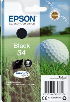 EPSON ink čer Singlepack Black 34 DURABrite Ultra Ink 6,1 ml (C13T34614010)