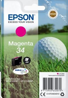 EPSON ink bar Singlepack Magenta 34 DURABrite Ultra Ink 4,2 ml (C13T34634010)