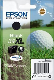 EPSON ink čer Singlepack Black 34XL DURABrite Ultra Ink 16,3 ml (C13T34714010)