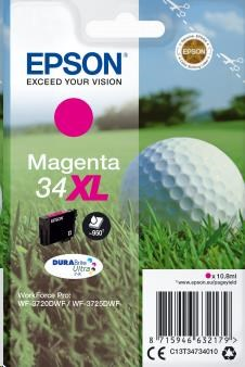 EPSON ink bar Singlepack Magenta 34XL DURABrite Ultra Ink 10,8 ml (C13T34734010)