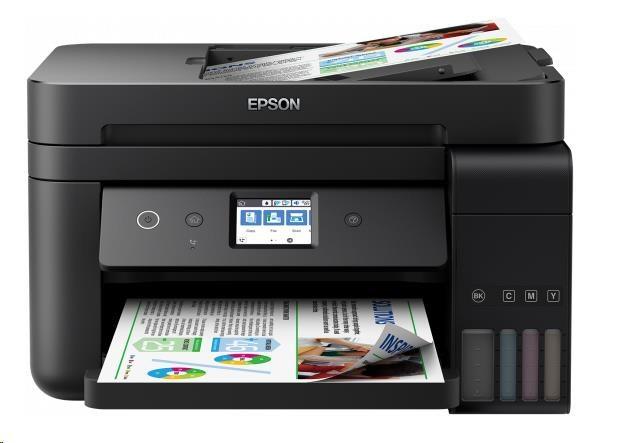 EPSON tiskárna ink L6190, 4in1, CIS, A4, 33ppm, 4ink, USB, Wi-Fi, Ethernet, LCD touch-panel, 3 roky záruka po registraci (C11CG19402)