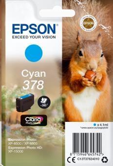 EPSON ink bar Singlepack Cyan 378 Claria Photo HD Ink 4,1 ml