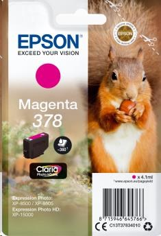 EPSON ink bar Singlepack Magenta 378 Claria Photo HD Ink 4,1 ml
