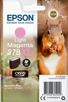 EPSON ink bar Singlepack Light Magenta 378XL Claria Photo HD Ink 10,3 ml