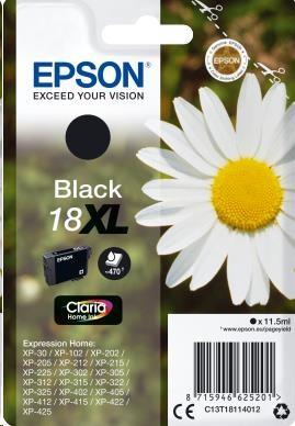 EPSON ink čer Singlepack Black 18XL Claria Home Ink blistr