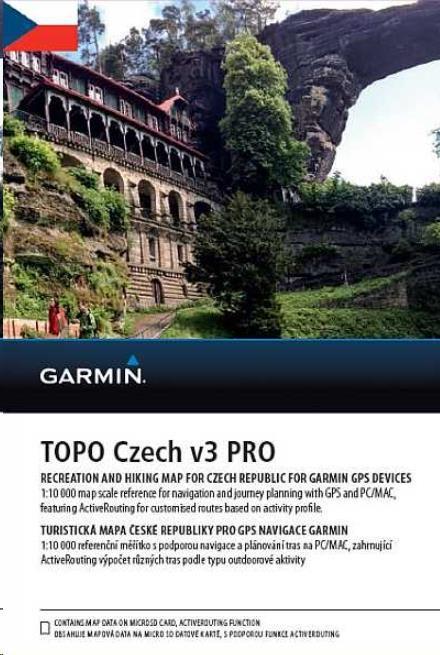GARMIN Topo Czech PRO 2017, microSD/SD karta (010-12365-01)