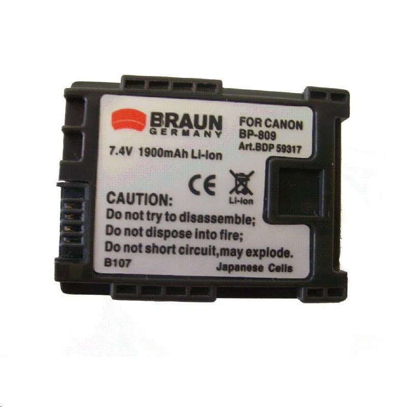Braun akumulátor CANON BP-807, BP-808, 1200mAh