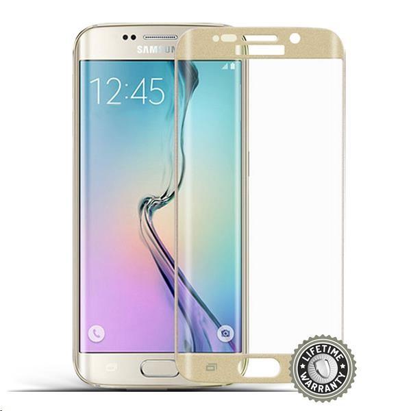 ScreenShield ochrana displeje Tempered Glass pro Samsung Galaxy S6 edge Plus (SM-G928F), zlatá (SAM