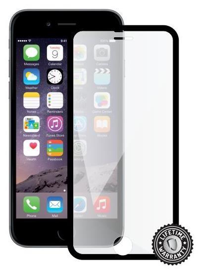 ScreenShield ochrana displeje Tempered Glass pro iPhone 6, Black (kovový okraj) (APP-TGFCBMFIPH6-D)