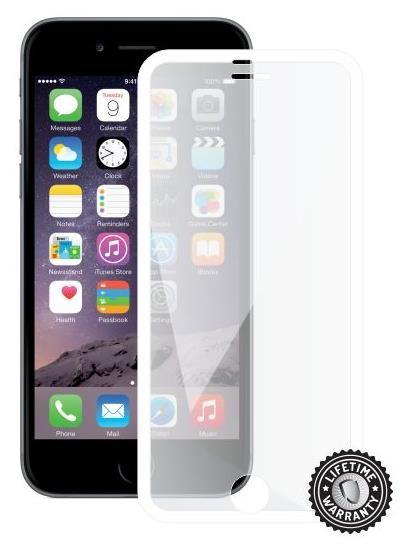 ScreenShield ochrana displeje Tempered Glass pro iPhone 6, White (kovový okraj) (APP-TGFCWMFIPH6-D)