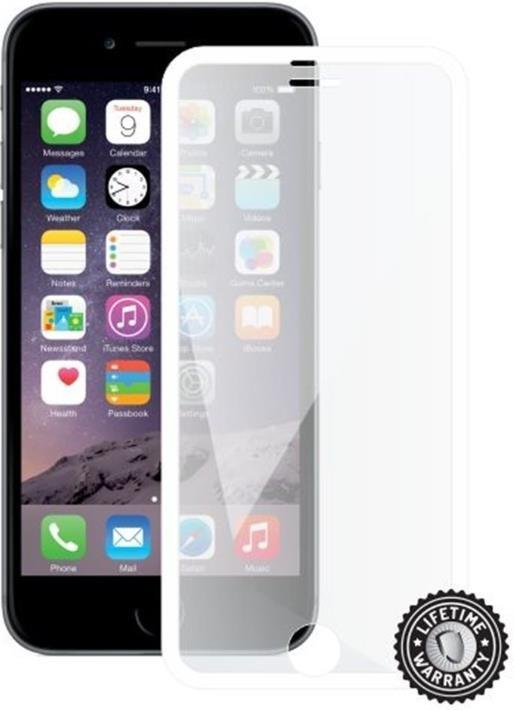 ScreenShield ochrana displeje Tempered Glass pro Apple iPhone 7, bílá (kovový okraj) (APP-TGFCWMFIPH7-D)