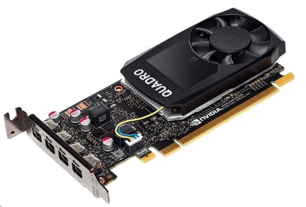 NVIDIA Quadro P1000 4GB GDDR5 2500MHz, 4x miniDisplayPort 1.4, 2x adapter mDP->DP, PCIe 16x (1ME01AA)