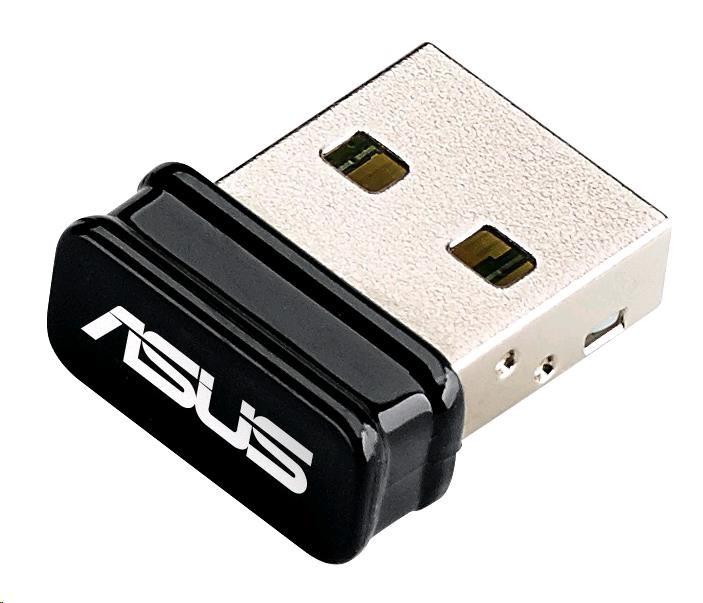 ASUS USB-N10 nano Wireless N150 Mini USB Adapter, 802.11n 150 Mb/s (90IG00J0-BU0N00)