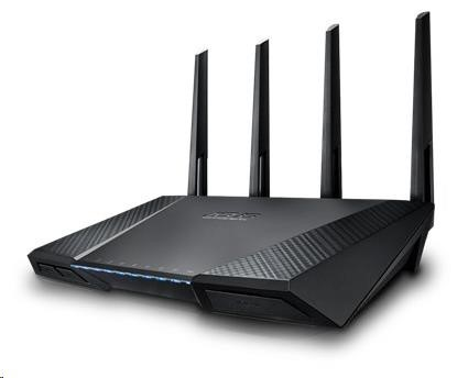 ASUS RT-AC87U Gigabit Dualband Wireless AC2400 Router, 4x gigabit RJ45, 1x USB3.0, 1xUSB2.0 (90IG00W0-BM3G10)