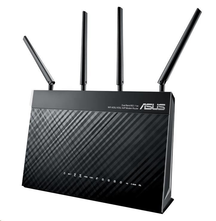 ASUS DSL-AC87VG Wireless AC2400 Dual-Band Wi-Fi VDSL/ADSL Modem Router (90IG02M0-BM3H00)