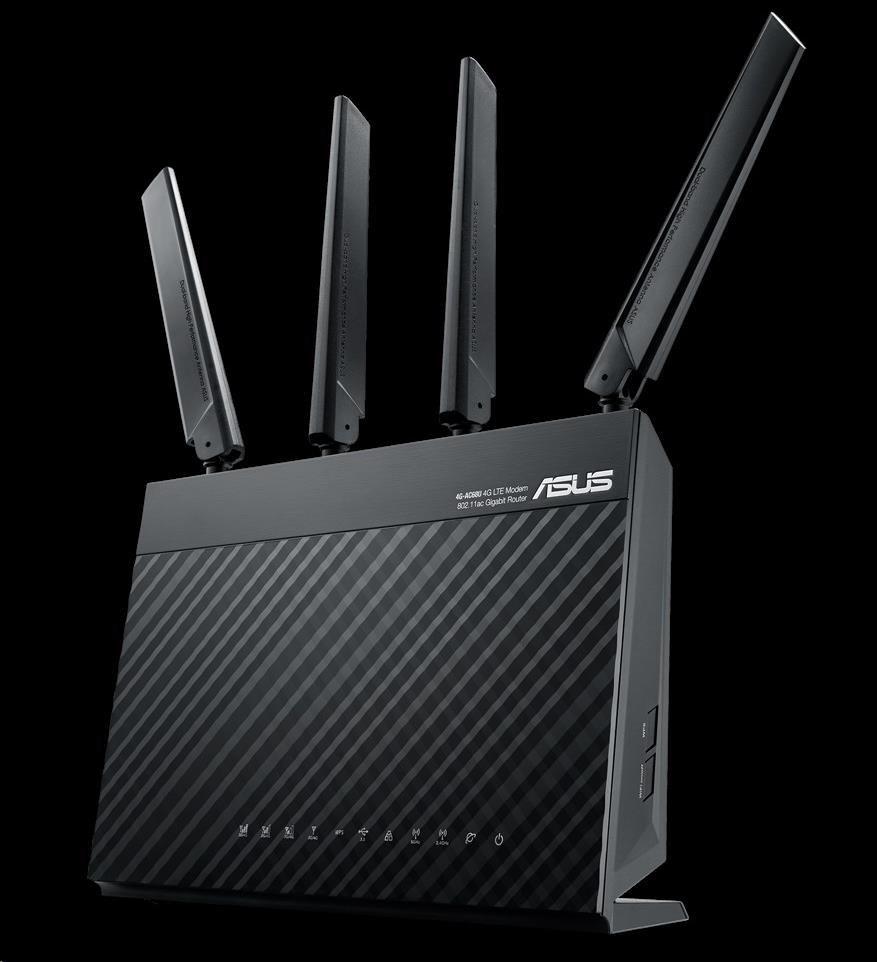 ASUS 4G-AC68U Wireless AC1900 4G LTE Modem Router (90IG03R1-BM2000)