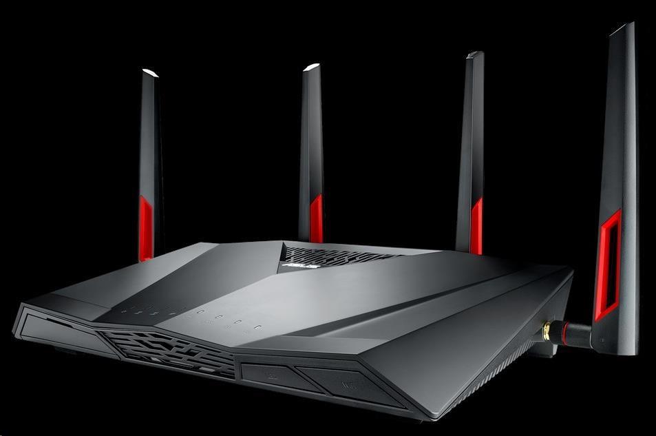 ASUS DSL-AC88U Dual-band Wireless AC3100 VDSL/ADSL Modem Router, 4x gigabit RJ45, 1x USB3.0, 1x giga