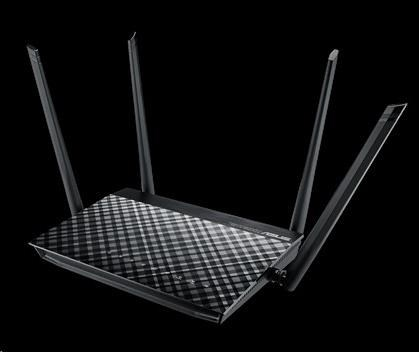 ASUS RT-AC57U Gigabit Dualband Wireless AC1200 Router, 4x gigabit RJ45, 1x USB2.0