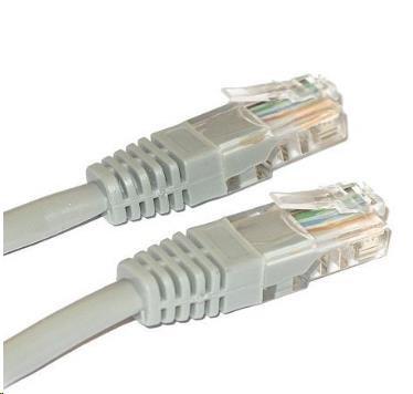 Patch kabel Cat5E, UTP - 20m, šedý (PK-UTP5E-200-GR)