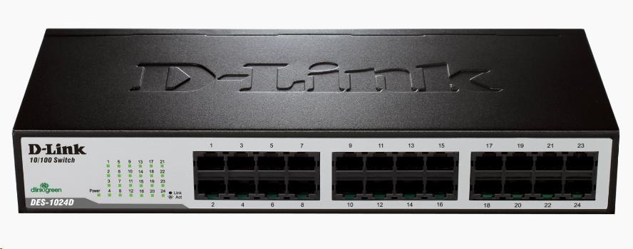 D-Link DES-1024D 24-port 10/100 Desktop / Rackmount Switch (DES-1024D/E)