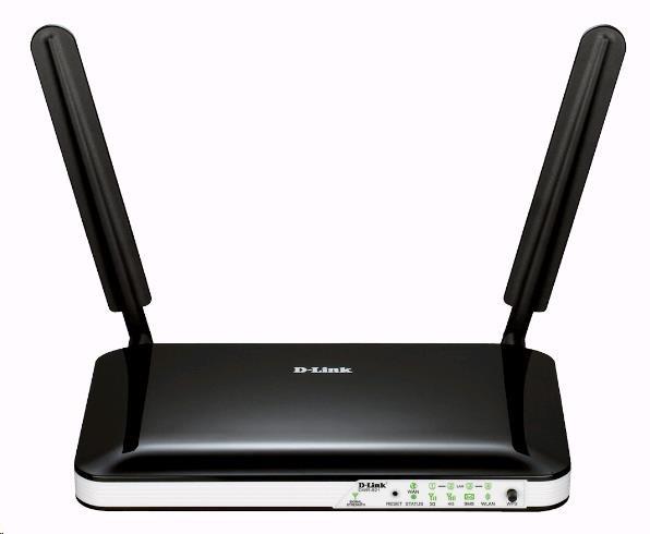 D-Link DWR-921 4G LTE Router, wireless N300, slot na SIM, 1x RJ45 WAN, 4x RJ45 LAN, dvě odpojitelné antény (DWR-921/E)