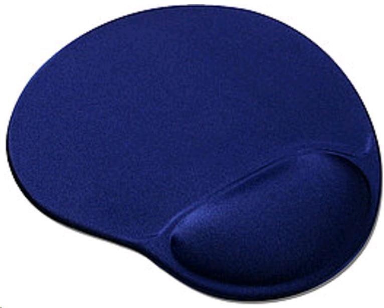 OEM Podložka pod myš gelová (tmavě modrá, ergonomická) (YS-M11)