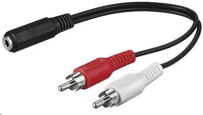 PREMIUMCORD Kabel audio 3,5mm Jack - 2x Cinch 1,5m (F/M, stereo) (kjackcinb2)