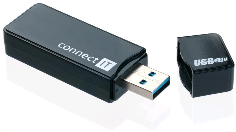 CONNECT IT Čtečka paměťových karet USB 3.0 GEAR černá