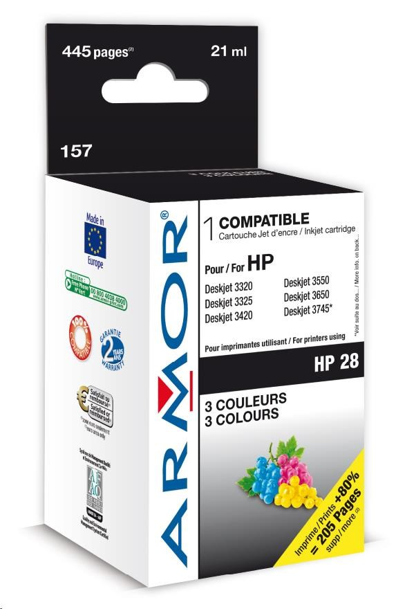 ARMOR cartridge pro HP DJ 3325/3420/3550/PSC1215/1315 Color (C8728AE) (K20114)