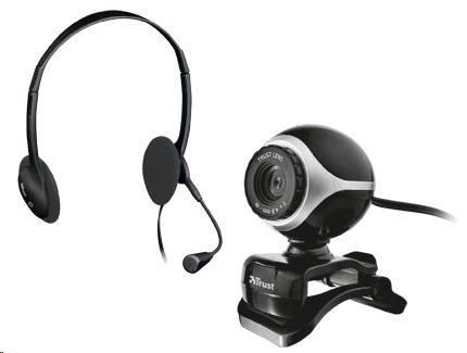 TRUST Komunikační sada Exis Chatpack (webkamera, sluchátka s mikrofonem) (17028)