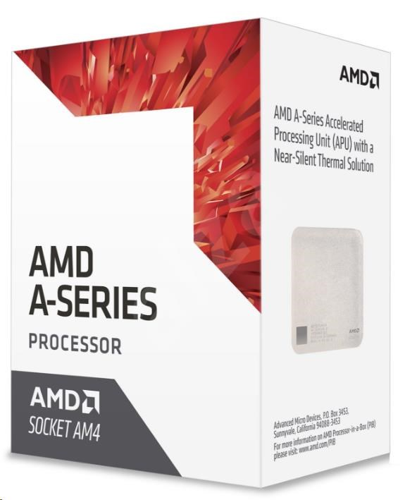 CPU AMD A10 9700 (Bristol Ridge), 4-core, 3.8GHz, 2MB cache, 65W, socket AM4, VGA Radeon R7, BOX (AD9700AGABBOX)
