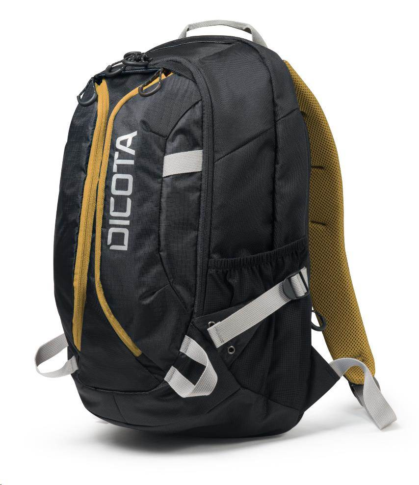 DICOTA Backpack Active 14-15.6, black/yellow (D31048)