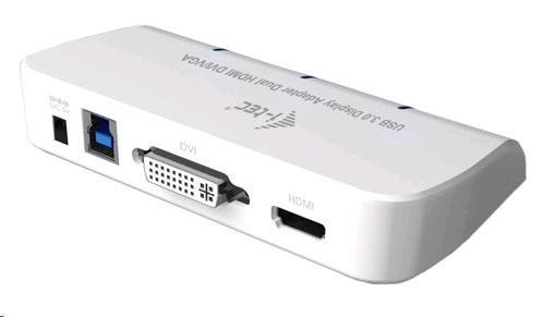 iTec USB3.0 DVI/VGA/HDMI Dual Display Adapter FullHD+ 1152p (U3DUALADA)