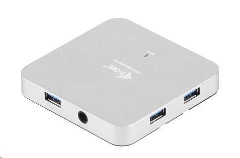 iTec USB 3.0 Hub 4-Port Metal s napájecím adaptérem (U3HUBMETAL4)