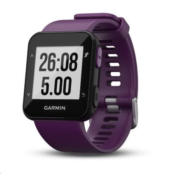Garmin GPS sportovní hodinky Forerunner 30 Violet Optic