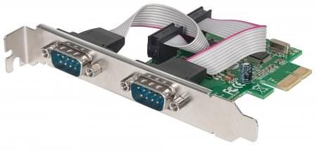 MANHATTAN Serial PCI Express Card, Two DB9 ports (152082)