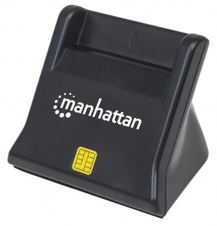MANHATTAN Čtečka karet / SIM, kontaktní, černá (102025)
