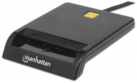 MANHATTAN Čtečka paměťových karet, USB, kontaktní externí (102049)
