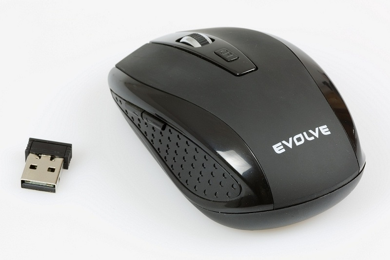 EVOLVEO WML-242B bezdrátová myš, 1600DPI, 2.4GHz, Nano příjímač, USB (WM-242B)
