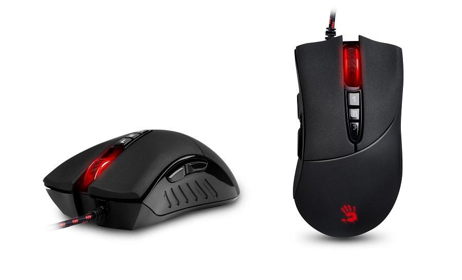 A4tech BLOODY V3 herní myš, až 3200DPI, V-Track technologie, 160KB paměť, USB, CORE 2, kovové podložky (V3M)