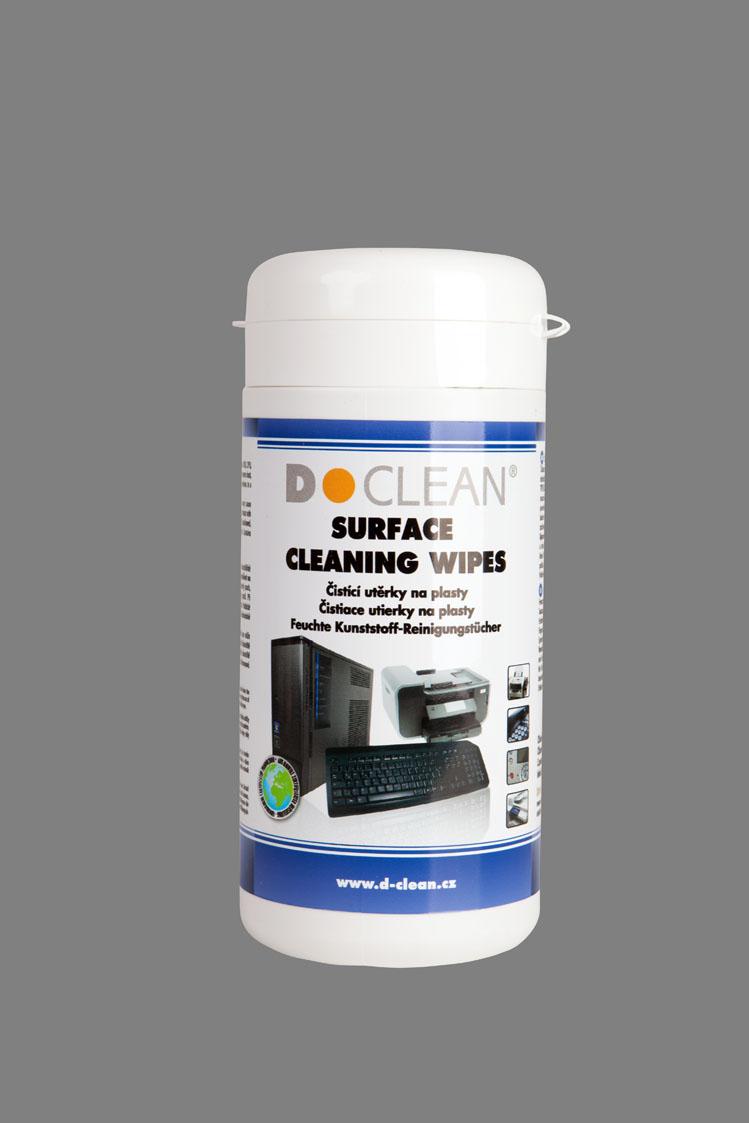DCLEAN Čistící utěrky na plasty v dóze (100ks) (D-21)