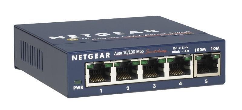 Netgear FS105 ProSafe 5x 10/100 Unmanaged Desktop Switch (FS105-300PES)