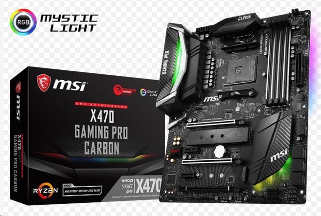 MSI MB Sc AM4 X470 GAMING PRO CARBON, AMD X470, VGA, 4xDDR4