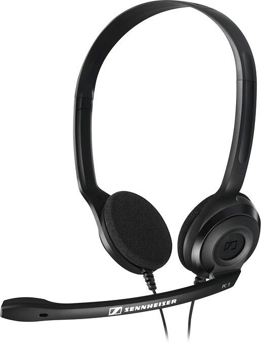SENNHEISER PC 3 CHAT black (černý) headset - oboustranná sluchátka s mikrofonem (504195)
