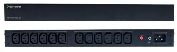 CyberPower Rack PDU, Basic, 1U, 16A, (12)C13, IEC C20 (PDU20BHVIEC12R)