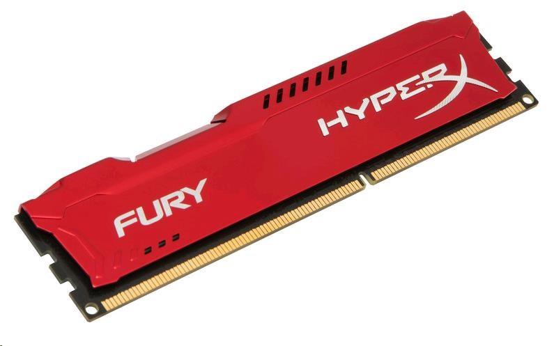 DIMM DDR3 4GB 1600MHz CL10 KINGSTON HyperX FURY Red (HX316C10FR/4)